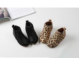 Wholesale Horse Hair Leopard - Kids shoes baby girls leather horse hair boots autumn new boys leopard grain princess roman boots fashion children single bootses