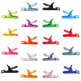 Gros-10 pcs Mix Couleurs En Plastique Sucette Clips Titulaire Bébé Mannequin Clip Crocodile Bouche Conception En Bas Âge Alimentation Accessoires Outils A19026 ? partir de fabricateur