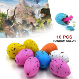 Wholesale Grow Eggs - Hot 50 pcs Dinosaur Eggs Magic Water Growing Hatching Colorful Dinosaur Add Cracks Grow Eggs Learning Toys Gifts For Children