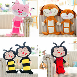 Wholesale Toys Car Pet - Wholesale- Child seat pets seat belt cover and Children Car seat belts pillow Car Seat plush toy free shipping