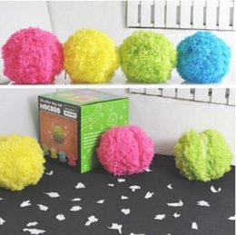 Wholesale Microfibre Cloths - Microfiber Mop Ball Mocoro Mini Sweeping Robot Automatic Rolling Ball Electric Ball Vacuum Cleaners Household Cleaning Toool CCA8407 48set