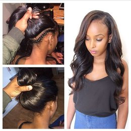 Wholesale Wigs For Women Malaysia - Glueless Lace Front Human Hair Wigs wave Malaysia Human Hair Full Lace Human Hair Wigs For Black Women