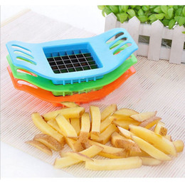Wholesale French Cooking - New PVC + Stainless Steel French Fry Fries Cutter Peeler Potato Chip Vegetable Slicer Cooking Tools Kitchen supplier Hot Sale