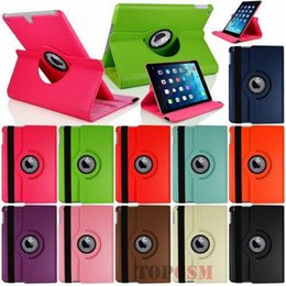 Wholesale Ipad Generations Case - 360 Rotating Stand Flip Smart PU Leather Case Cover for iPad Air For iPad 5 Generation (2016) Cover w Screen Film Stylus Pen