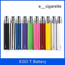 Wholesale Ego E Cigarette Kits - electronic cigarettes Ego t Battery 650mah 900mah 1100mah e cigs for Electronic Cigarettes E Cigarettes E-cig Kit Various colors