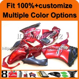 2019 r1 carenados Cubierta 23colors + 8Gifts Carenado ABS rojo ZX12R 2000 2001 Carenado moto Set para Kawasaki Ninja