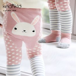 Wholesale Cute Infant Tights - 2017 Autumn Cute Cartoon Animals Printed Big PP Pants Socks 2 Pieces Set Cotton Infant Leggings Tights Kids Boys Girls Leggings Pants 788