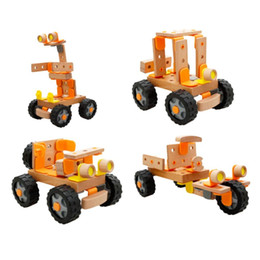 Wholesale Wooden Construction Vehicle Toys - Wooden toys Car Changeable Building Blocks Construction Assembly Educational Toy for Baby Kids Children