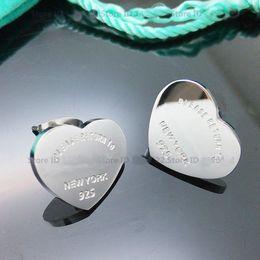 Wholesale Luxury Charms - BC Fine Jewelry Heart Luxury brand Earring 18K Gold Women Charm Earring pulseiras Fashion Famous Brand Stud Earrings For Woman