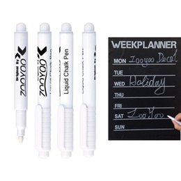 Wholesale Post Pen - White Liquid Chalk Pen Erasable Pen for Chalkboard Blackboard Nursery Wall Sticker for Kids Room Removable Vinyl Wall Decal