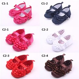Wholesale Dotting Fedex - New Arrival Girls Baby Dress Shoes Various Color Cotton Fabric Walking Casual Shoes Free Fedex Shipping