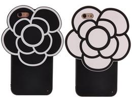 Cubierta del teléfono celular del silicón de la historieta online-El teléfono de la flor de la camelia de la historieta 3D encajona las cajas protectoras del teléfono celular N5 de la contraportada del modelo suave 360 para Iphone6 Iphone6plus