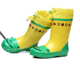 Wholesale High Heels Children - high quality Wholesale 3D cute cartoon bunch warm warm non-slip tube child children's health school shoes rain boots
