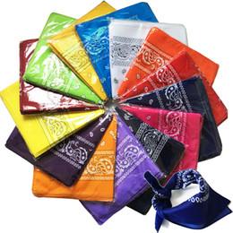 Wholesale Ladies Neck Wrap - 2016 Men Paisley Bandana Headwrap Cotton Head Wrap Neck Scarf Wristband Handkerchief hip hop bandana Paisley print headband  hair accessori