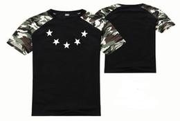 Roupas de camuflagem swag on-line-Mens new verão camiseta estrelas hip hop marca rock swag rap patinação camisetas mulheres impressão roupas Camuflagem mangas o pescoço