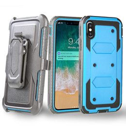 Wholesale apple holster - Heavy Duty Holster Case with Belt Clip Cover Hybrid Case For Iphone X 8 Plus Samsung Galaxy S9 S8 LG K8 LV3 LS775