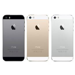 Wholesale I5s Phones - Original iPhone 5S i5S Fingerprit 4.0 inch Refurbished Smartphone Dual Core 1G RAM 16GB 32GB 64GB ROM Touch ID Mobile Phones