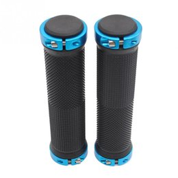 Wholesale Rubber Ends - ROCKBROS 1 Pair MTB Mountain Bike Grips Rubber Lock On Handlebars Lock-on Grips Fixed Gear Fixie Grips End knock off