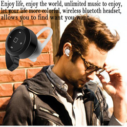 Wholesale Super Small Bluetooth Headset - HD Stereo Sport Super Small Snail Mini Bluetooth v4.0 Wireless Headset Earphone Headphone Multi-point Music For iPhone Samsung HTC Haiwei