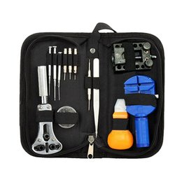 Wholesale Watchmaker Tool Set Kit - Wholesale-13Pcs Portable Watchmaker Pin Remover Adjuster Case Opener Wrist Watch Repair Tool Set Kit 5DGX 5HXF 8K25
