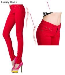 Wholesale cotton trouser fabric - 2017 New Fashion Women Long Pants Colourful Pencil Pants Cotton elastic fabric pants Women's Slim Trousers T6966