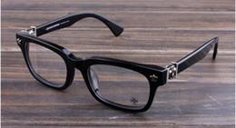 2019 designer óculos quadros para homens Novos óculos de armação de óculos de armação de óculos de cromo para homens mulheres miopia marca designer óculos de armação de lente clara com caso original 09 designer óculos quadros para homens barato