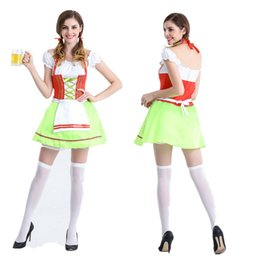 Wholesale Germany Clothes - Germany beer festival costumes Halloween ding-dong sister clothing service Qingdao beer festival served beer bar stage