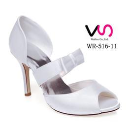 Wholesale Euro Style Wedding Dress - New Style WR-516-11 Dyeable Ivory Color Sandal Bridal Shoes Wedding Dress Shoes Handmade Shoes Evening Shoes Prom Party Shoes Euro Size35-42