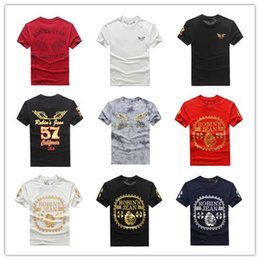 Wholesale Plus Size Short Sleeve Tops - Hot! Tops & Tees fashion design Robin jeans men's tshirts cotton short Sleeve Shirts Robins T shirts Plus-size 3XL