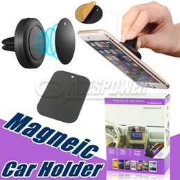 Wholesale Phone Magnet Car Mount - Car Mount Air Vent Magnetic Universal Phone Holder For IPhone 7 Plus LG V10 Galaxy S7 One Step Mounting Reinforced Magnet Safer Driving