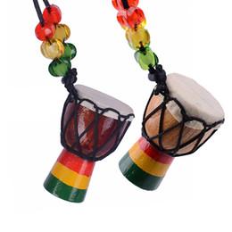 Strumenti a mano online-MINI Jambe Drummer In vendita, Djembe Percussion Musical Instrument Tamburo a mano africano Nuovo marchio