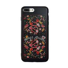 Wholesale Snake Pattern Back Cover - Fashion Flower Snake Tiger Pattern Soft IMD Back Cover Shockproof TPU Smooth Dirt-resistant High Quality For iPhone 7 6 6s Plus OPPBAG