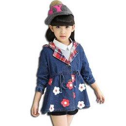 Wholesale Retail Denim Jacket Girls - Girls shirt printing hooded windbreaker coat children denim jacket and retail A4
