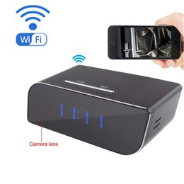 Wholesale Time Clocks Wifi - Mini Wifi P2P Pinhole Hidden Camera Clock Security cameras HD1080P DVR Video Camera Support Mobile PC Real-time View Anywhere Anytime