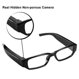 Wholesale spy camera lens glasses - New 1080P HD Spy Camera Glasses Hidden Invisible Lens Video Sunglasses Recorder Camcordder Audio Recording Glasses