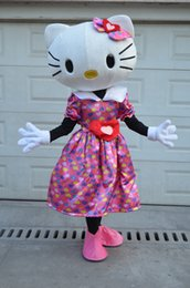 Wholesale Mascot Kitty - Hotsale Mascot Costume Adult Size Hig Quality Love sweet Hello Kitty Cartoon Character Costumes Fancy Dress Suit