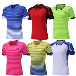 Wholesale Table Tennis Woman Shirt - Li-Ning Sport Gym Quick Dry badminton shirt,Women Men table tennis Jerseys,team game Leisure running training sports competition clothes