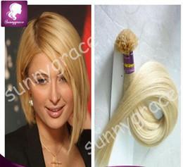 Wholesale Black U Tip Hair - keratin hair remy virgin Brazilian prebonded hair extension U tip hair weaves for black woman --- sunnygrace