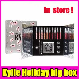 Wholesale Makeup Gift Sets Wholesale - Fast delivery Kylie Holiday big box limited edition makeup set lipstick eyeshadow eyeliner set kylie jenner New Christmas gift free shipping