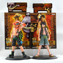 Wholesale Wholesale Collectible Figurines - 16cm One Piece Figure Ace Luffy Collectible Action Figure Japanese Anime Figure PVC Cartoon Figurine Toys Juguetes