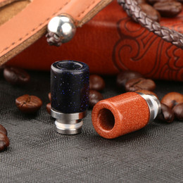 Wholesale Colour Tips - Flashing Coloured Glaze Drip Tip New Style Wide Bore Drip Tips 510 Thread stellar scintillation High quality Glass Drip Tip DHL Free