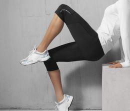 Wholesale Reflective Running Pants - Wholesale-fashion reflective light sport running compression tights women sports yoga pants