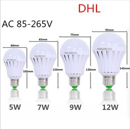 Wholesale 9w Led Work Lamp - Super Bright LED Emergency Light Bulb Emergency Bulb Automatic Charging 5 7 9 12W Rechargeable Battery E27 Lamp use working 3-5 hours