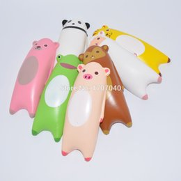 Wholesale Wholesale Sheep Toys - Wholesale-1PCS 14CM Jumbo Squishy Ikiru&friends Hand Pillow Cartoon Panda Tiger Monkey Sheep Bread Fun Toy