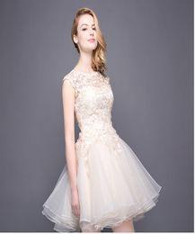 Wholesale Online Cheap Dresses Chiffon - Prom Dresses Online A-Line Short Sleeveless Celebrity Dresses Jewel Graceful Ball Gowns Cheap Cocktail Dresses 2017