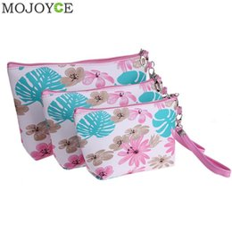 Wholesale Women 3pcs Casual - 3pcs  Set Travel Toiletry Makeup Case Storage Pouch Fashion Cosmetic Bag Organizer Women Travel Makeup Bags Floral Printed Cosmetic Bags