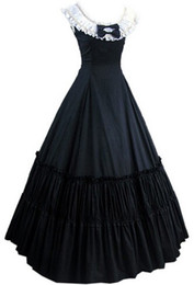 Wholesale Women Victorian Halloween Costumes - (GT010) New Arrival Women Sleeveless Southern Bell Costume Gothic Lolita Dress Victorian Party Halloween Costumes Customized
