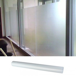 Wholesale Order Vinyl Rolls - High Quality Roll Frosted White Privacy Glass Window Film 0.5x3m order<$18no track