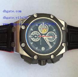 Wholesale Multicolor Sapphire - Luxury 2016 Men's Multicolor Dial Calibre Watch Men Black Leather Sport Swiss Quartz stainless steel Chronograph Watch Men's Watches