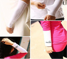 Wholesale Gloves Cuffs - Sunscreen Cuff For Men And Women Multi Function Riding Sports Arm Sleeve Ultraviolet Proof Springy Protection Gloves 2 1xz D R
